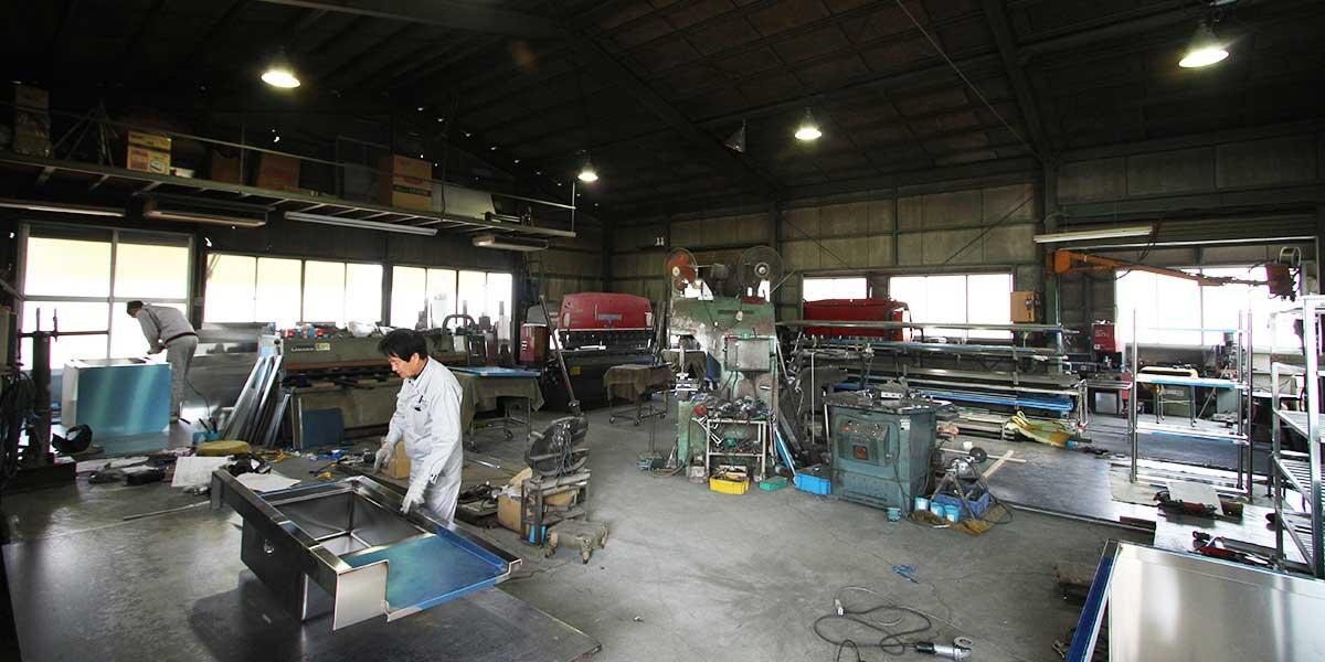 自社製造工場完備